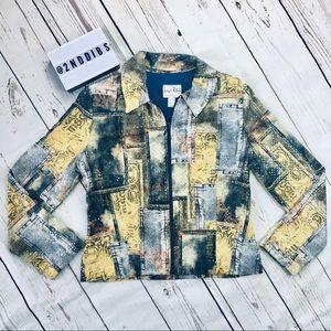 Joseph Ribkoff Patterned Sequin Jacket